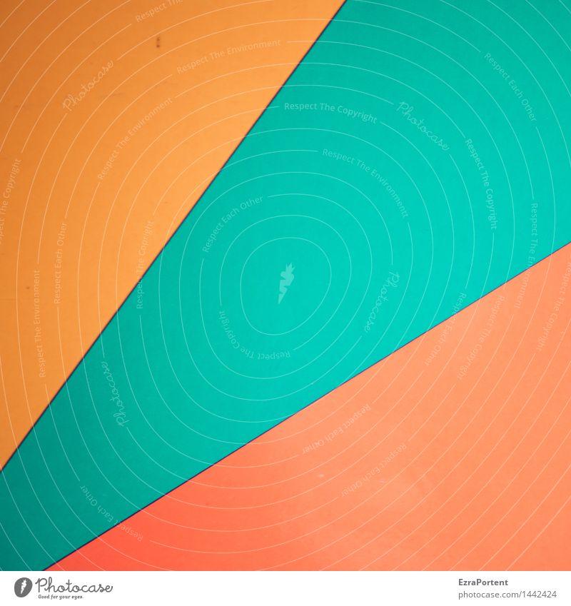 O/T/R Stil Design Zeichen Linie ästhetisch Freundlichkeit gelb orange türkis Farbe Geometrie Strukturen & Formen Werbung Dekoration & Verzierung