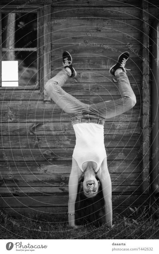 verrückt joga weiblich Lifestyle Stil Freude Leben harmonisch Freizeit & Hobby Spielen Ausflug Abenteuer Freiheit Sommer Feste & Feiern Tanzen Fröhlichkeit