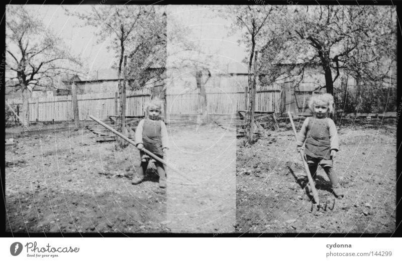 Fotoreisen in die Vergangenheit VII Kind Natur alt Baum Sommer Freude Leben Gefühle Junge Garten Park 2 Zeit Zusammensein Fotografie Vergänglichkeit