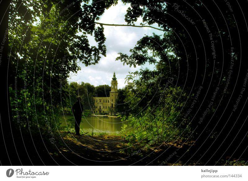 my home is my castle Frau Mensch Himmel Natur Wasser grün Baum Einsamkeit Wald Umwelt Garten See Park gehen Ausflug wandern