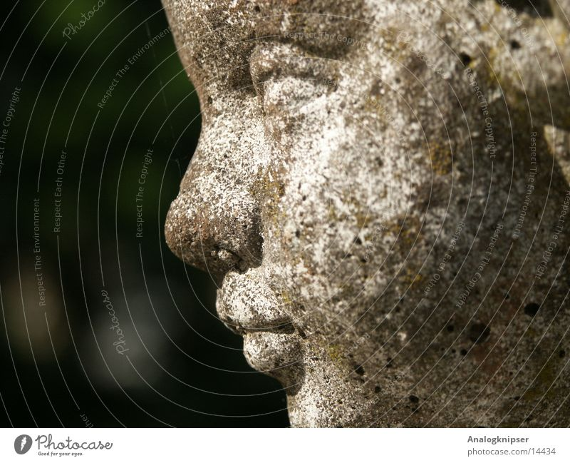 Gartenpinkler Stein Brunnen Statue Kunst Makroaufnahme