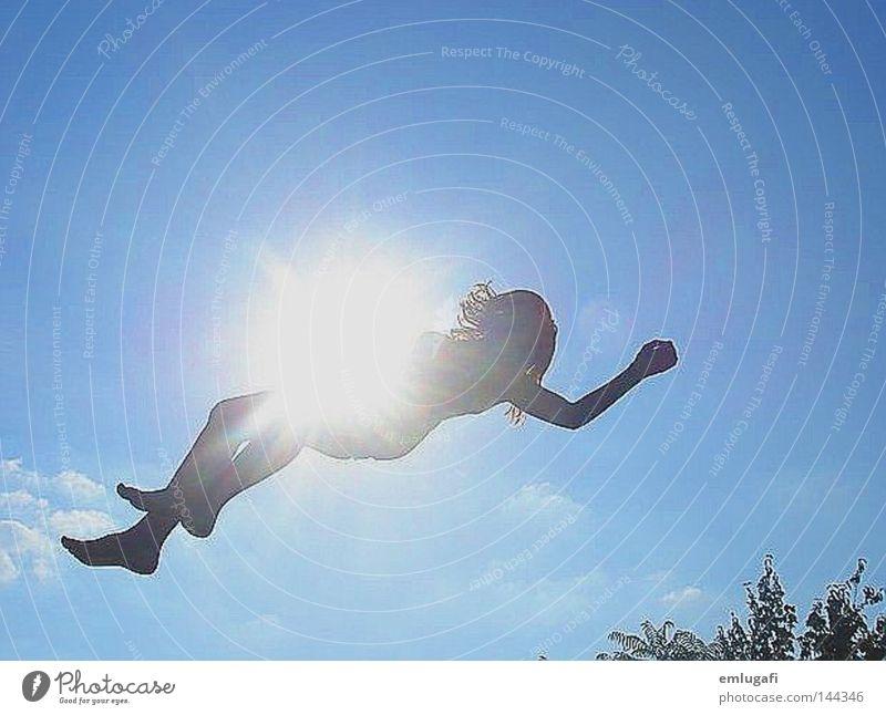 jump4 Himmel Sonne blau Freude Leben springen Freiheit Glück fliegen frei Fröhlichkeit fallen Alkoholisiert schwanger Falle Leichtigkeit