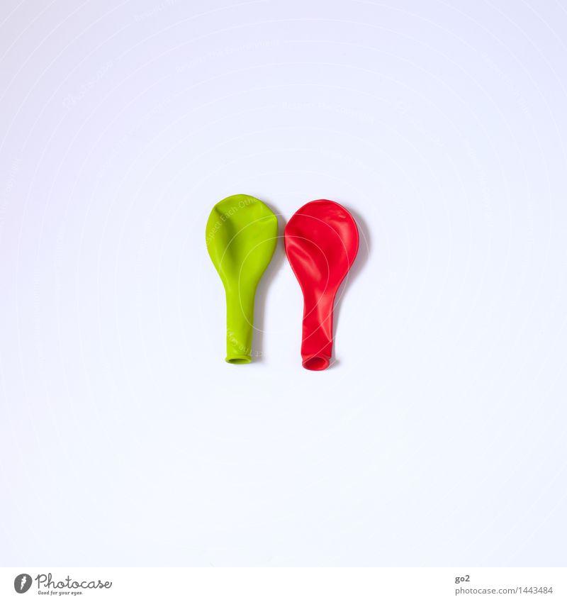 GrünRot Freude Freizeit & Hobby Feste & Feiern Karneval Silvester u. Neujahr Jahrmarkt Geburtstag Dekoration & Verzierung Luftballon ästhetisch einfach grün rot