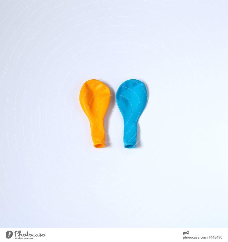 GelbBlau blau weiß Freude gelb Feste & Feiern Party Freizeit & Hobby Dekoration & Verzierung Geburtstag ästhetisch Fröhlichkeit Luftballon Silvester u. Neujahr