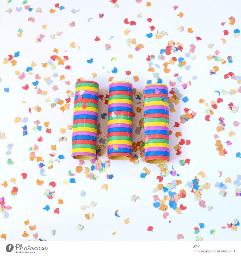 Luftschlangen und Konfetti Freude Feste & Feiern Party Dekoration & Verzierung Geburtstag Fröhlichkeit Lebensfreude Veranstaltung Silvester u. Neujahr Karneval