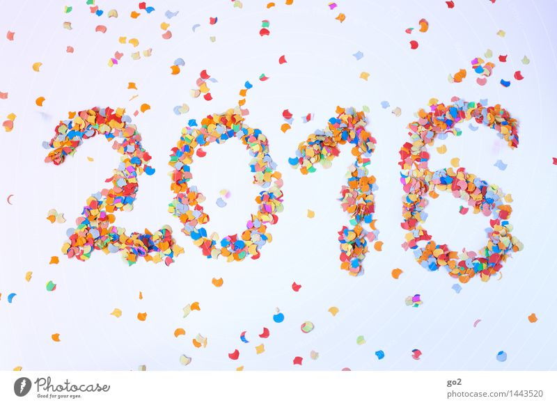 2016 Freude Feste & Feiern Party Ziffern & Zahlen Veranstaltung Silvester u. Neujahr Vorfreude Konfetti Neujahrsfest
