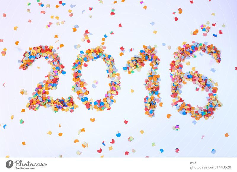 2016 Freude Party Veranstaltung Feste & Feiern Silvester u. Neujahr Konfetti Ziffern & Zahlen mehrfarbig Vorfreude neues jahr frohes neues jahr Neujahrsfest