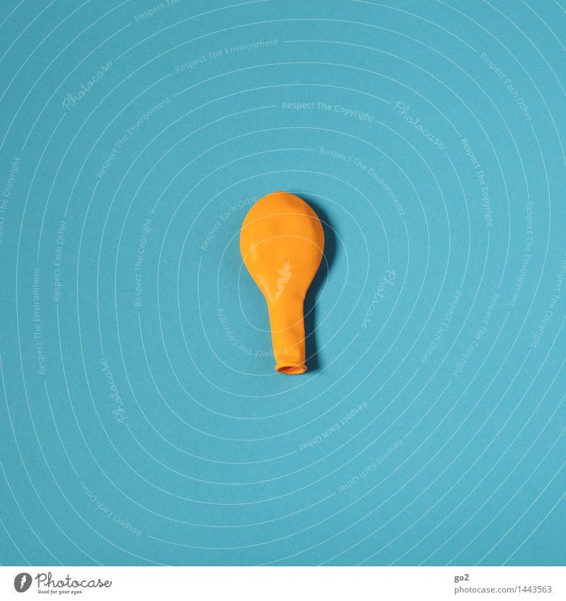 Gelb auf Blau blau Farbe Freude gelb Feste & Feiern Party Design Freizeit & Hobby Dekoration & Verzierung Geburtstag Fröhlichkeit ästhetisch einfach Luftballon