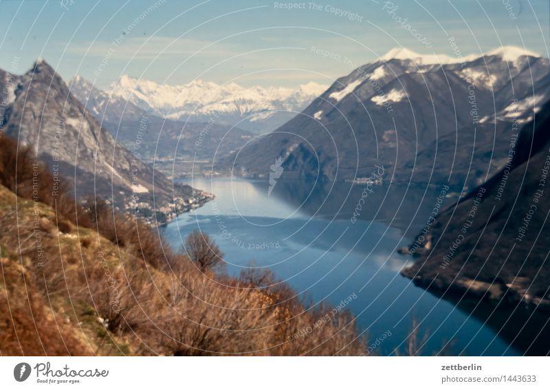 Tessin Lago Maggiore Alpen Berge u. Gebirge Europa Felsen Ferien & Urlaub & Reisen Ferne Himmel Hochgebirge Klima Landschaft Panorama (Aussicht)