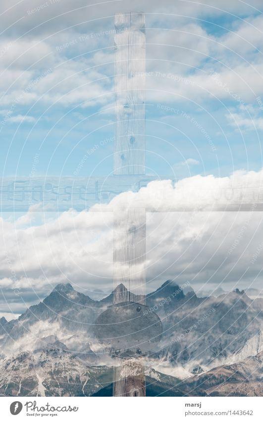 + plus Berge Himmel Natur Wolken ruhig Berge u. Gebirge Gefühle Herbst Tod außergewöhnlich hell authentisch Schönes Wetter Gipfel berühren Hoffnung Trauer