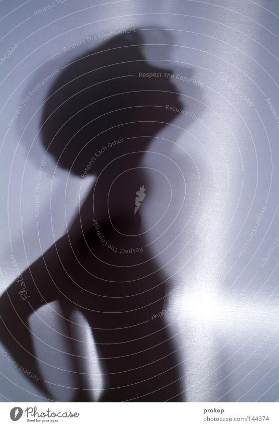 Hoffnung Frau Mädchen feminin Schatten Silhouette Körper Akt nackt zerbrechlich zart fein schön attraktiv fremd anonym geschlossen Blick Götter