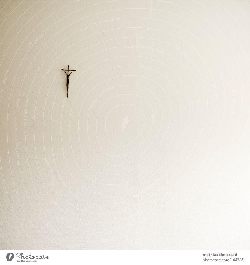 GLAUBE Mensch Wand Religion & Glaube Hoffnung Kirche Dekoration & Verzierung Vertrauen Christliches Kreuz Schmerz Symbole & Metaphern Gebet hängen Kruzifix