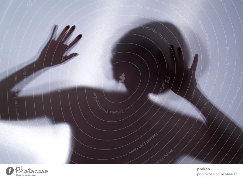 Kontakt Frau Mädchen feminin Schatten Silhouette Körper zerbrechlich zart fein schön attraktiv fremd anonym geschlossen Blick entdecken Hoffnung Götter