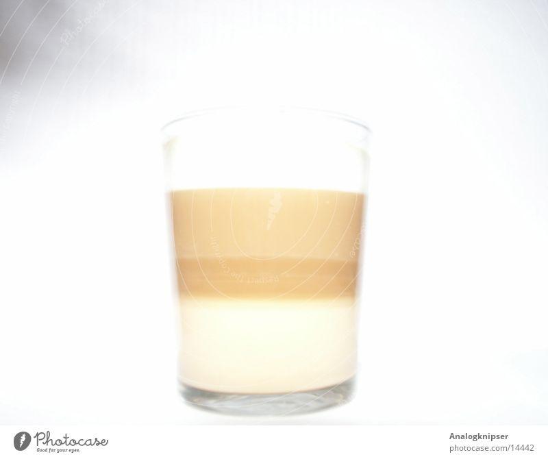 Latte Milch Latte Macchiato Espresso heiß Kaffee Glas Erfrischung