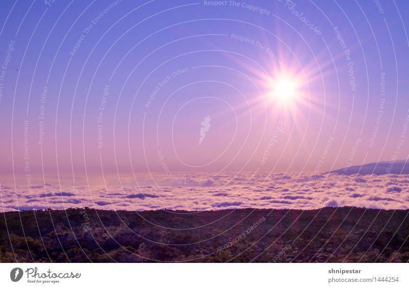 Sunset at Piton de La Fournaise Natur Ferien & Urlaub & Reisen Sommer Sonne Erholung Landschaft Wolken ruhig Ferne Berge u. Gebirge Umwelt Gefühle