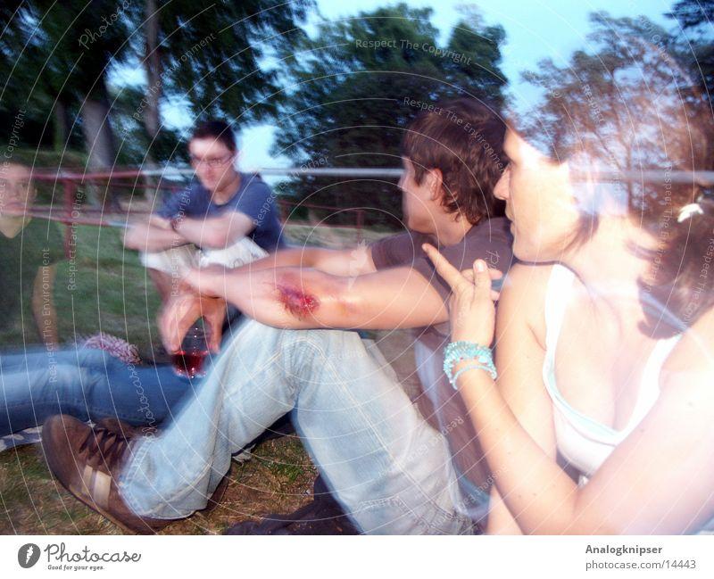 Sommernachtstaum II Freundschaft Mann Frau Sonnenuntergang Menschengruppe Abend Natur