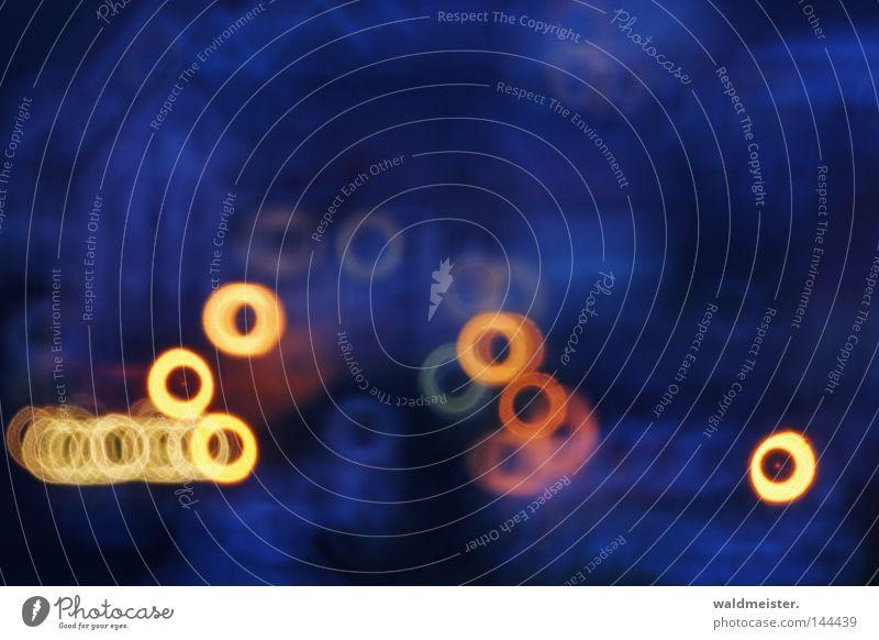 Small City Lights blau Haus gelb träumen orange Abenddämmerung Spiegellinsenobjektiv (Effekt)