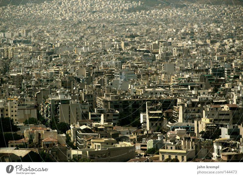 noch mol moloch blau Stadt Haus Hochhaus modern Skyline Verkehrswege Griechenland Athen