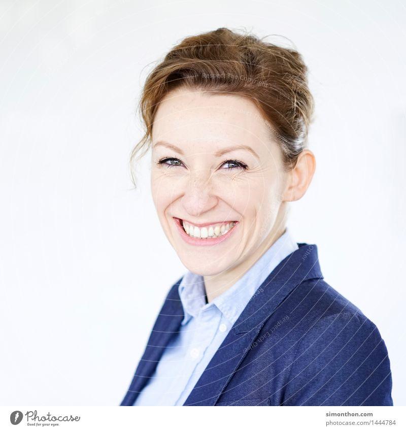 Happy Mensch Jugendliche Freude 18-30 Jahre Gesicht Erwachsene sprechen feminin Business Zufriedenheit Büro modern Erfolg Perspektive Lebensfreude Idee