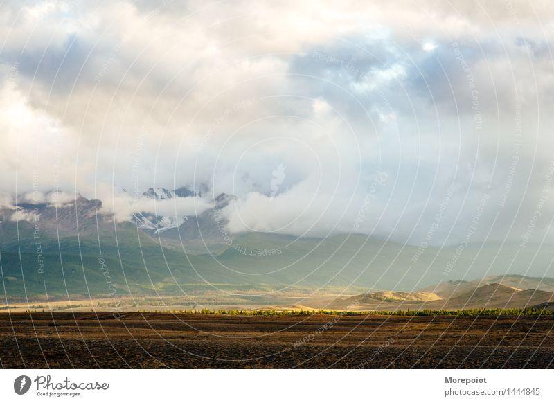Landschaft Berge u. Gebirge Feld Außenaufnahme Farbfoto Natur Menschenleer Herbst Umwelt Tag natürlich Himmel Schönes Wetter Wolken wunderschön Weitwinkel