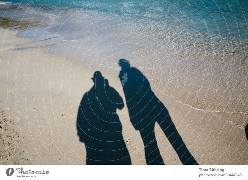 Schattenspiel am Meer Lifestyle Erholung ruhig Ferien & Urlaub & Reisen Tourismus Ausflug Abenteuer Ferne Freiheit Sightseeing Expedition Sommer Sommerurlaub