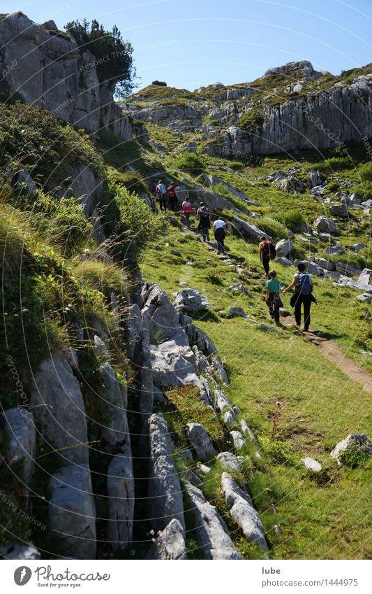 Wandertag Ferien & Urlaub & Reisen Tourismus Ausflug Ferne Freiheit Sommer Sommerurlaub Sonne Berge u. Gebirge wandern Umwelt Natur Landschaft Klima