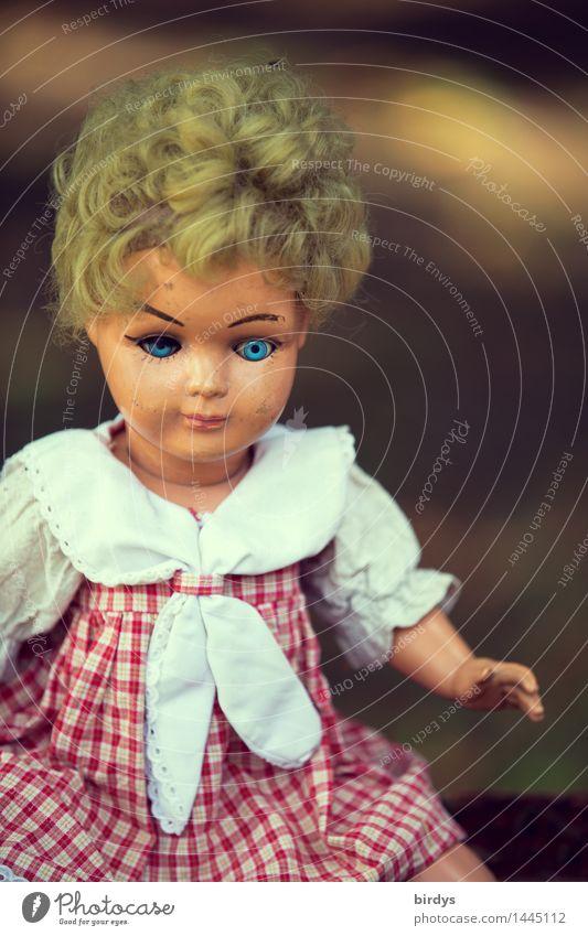 und deine blauen Augen ... alt schön Traurigkeit feminin blond authentisch Kindheit ästhetisch retro Freundlichkeit Vergangenheit Spielzeug gruselig Puppe