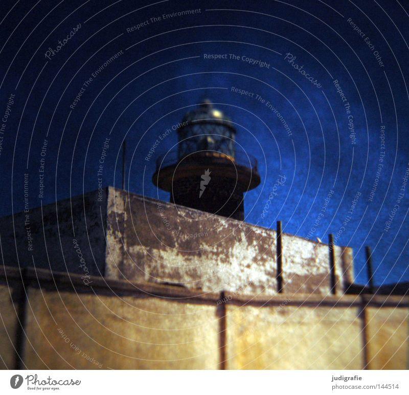 Rücksicht/Durchsicht Dia Experiment Licht Leuchtturm Seezeichen Gebäude Mauer Meer Küste Schifffahrt Himmel Vulkaninsel Fuerteventura Wahrzeichen Denkmal Farbe