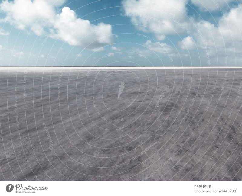 Santa Pedro III Freiheit Strand Landschaft Himmel Wolken Horizont Schönes Wetter Nordsee St. Peter Ording Sand Erholung Blick Ferne blau grau Fernweh ästhetisch