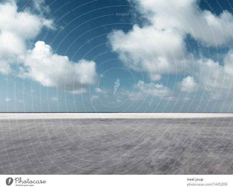 Santa Pedro I Freiheit Landschaft Himmel Wolken Horizont Schönes Wetter Nordsee St. Peter Ording Sand Erholung Blick Ferne blau grau Fernweh ästhetisch