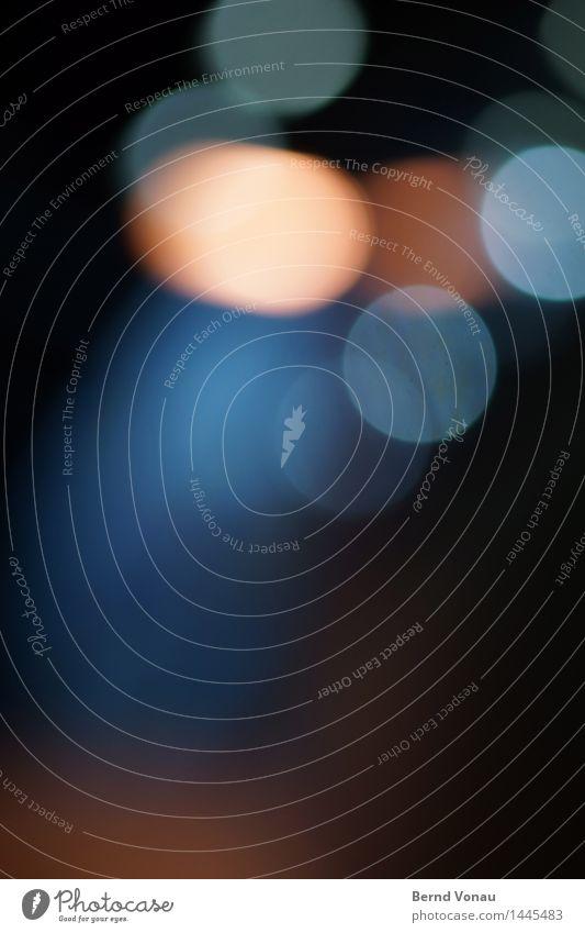 nightwash Verkehrswege Autofahren dunkel blau mehrfarbig gelb orange Kreis rund Geometrie abstrakt Hintergrundbild schön Bewegung Tablette Farbfoto
