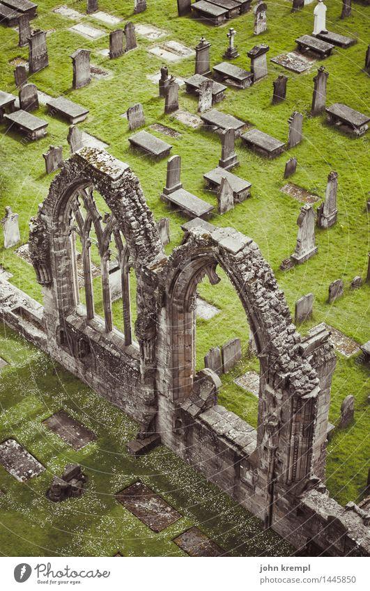 Gotiklego elgin Schottland Kirche Ruine Bauwerk Kathedrale Friedhof Mauer Wand Fassade Sehenswürdigkeit dunkel historisch kaputt Mitgefühl Traurigkeit Trauer