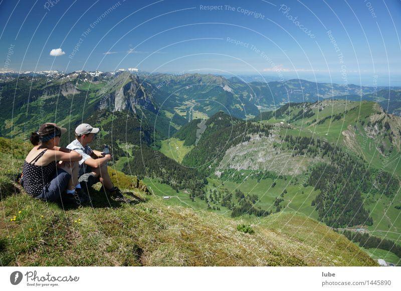 Schöner Ausblick Wohlgefühl Zufriedenheit Erholung ruhig Ferien & Urlaub & Reisen Tourismus Ausflug Ferne Freiheit Sommer Sommerurlaub Sonne Berge u. Gebirge
