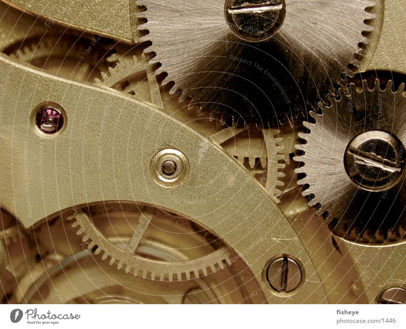 Räderwerk Uhrwerk Elektrisches Gerät Technik & Technologie Zahnrad Schraube Metall