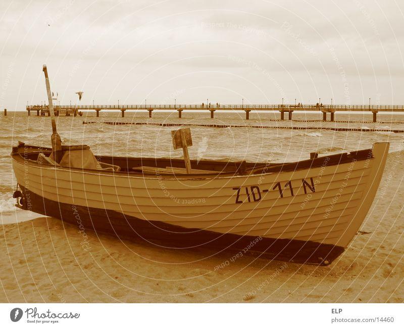 Fischerboot Meer Seebrücke Holzboot Ostsee