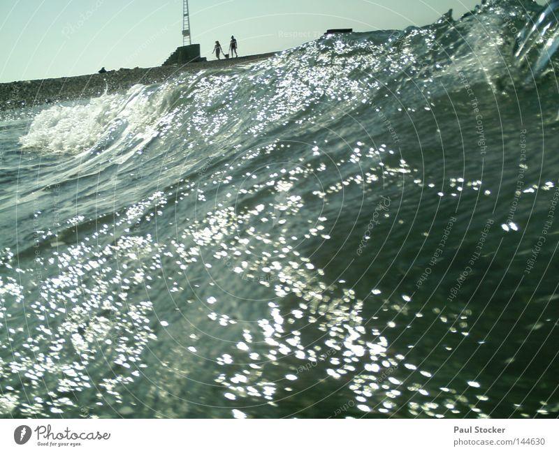 Welle Meer Wellen Griechenland Kos Strand Küste Wasser Sonne Mensch See Fluss Wassertropfen Fröhlichkeit Sommer