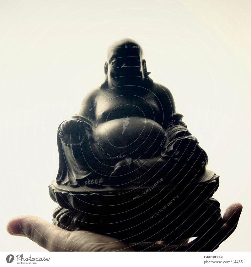 Hand weiß Kunst Dekoration & Verzierung Kultur China Statue Osten zeigen geben Buddha Zigarre Naher und Mittlerer Osten