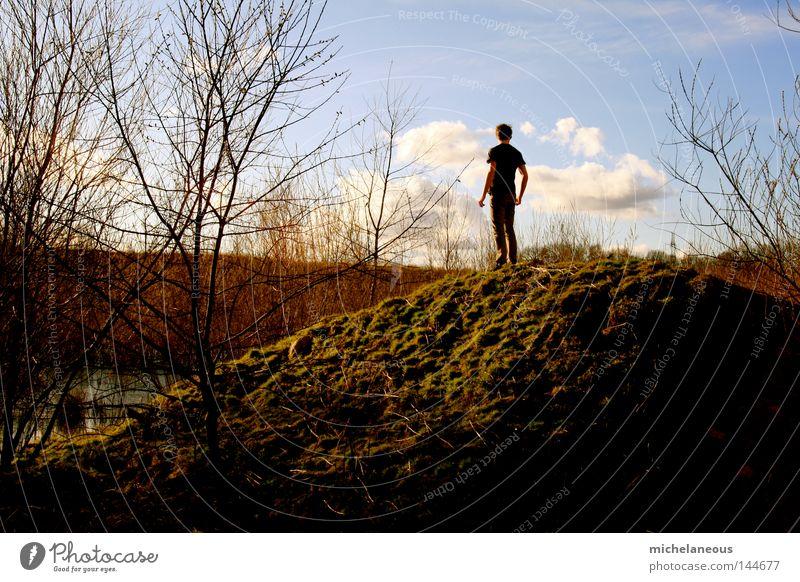 longing for something Himmel Wolken Einsamkeit Ferne Herbst Horizont Zufriedenheit Suche Zukunft fordern