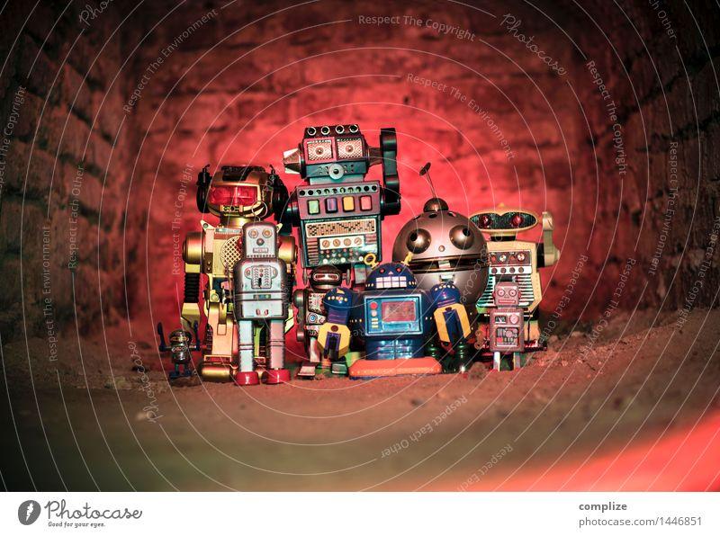 Roboter-Clique Mensch Lifestyle Feste & Feiern Party Zusammensein Freundschaft Design Freizeit & Hobby Musik Tanzen Technik & Technologie Computer Zukunft