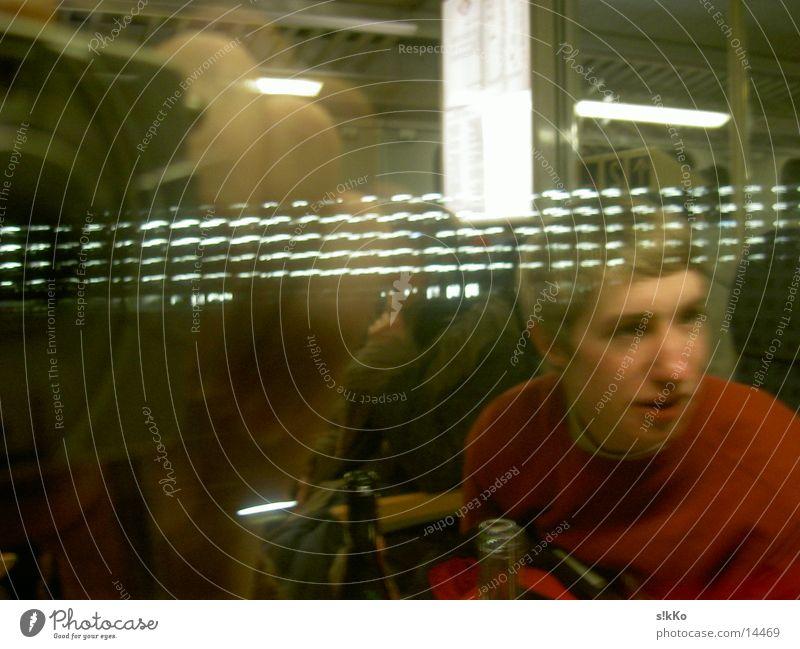 Reflektionen Reflexion & Spiegelung Eisenbahn Licht Verkehr Szenerie