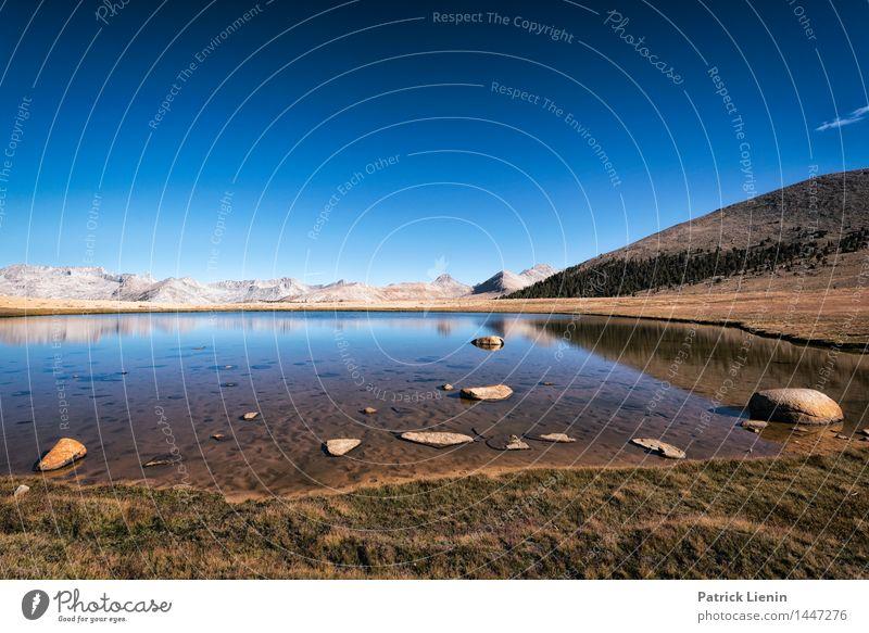 Blue Lake Wohlgefühl Zufriedenheit Sinnesorgane Erholung Ferien & Urlaub & Reisen Umwelt Natur Landschaft Urelemente Erde Wasser Himmel Wolkenloser Himmel Sonne