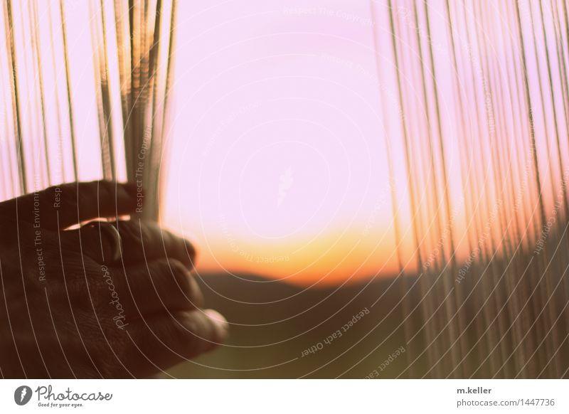 Morgenstimmung Wohnung Himmel Horizont Sonnenlicht Blick Gefühle Stimmung Lebensfreude Frühlingsgefühle Hoffnung Gedeckte Farben