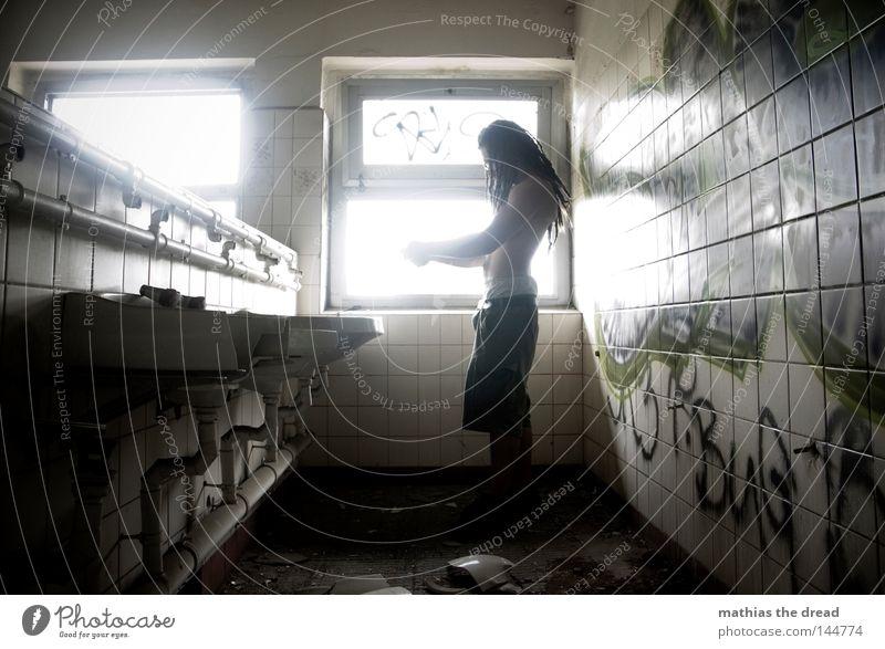 BLN 08 | KATZENWÄSCHE alt Wasser weiß grün schön Einsamkeit ruhig Erholung Fenster kalt Wand Haare & Frisuren Linie Beleuchtung Raum Kraft