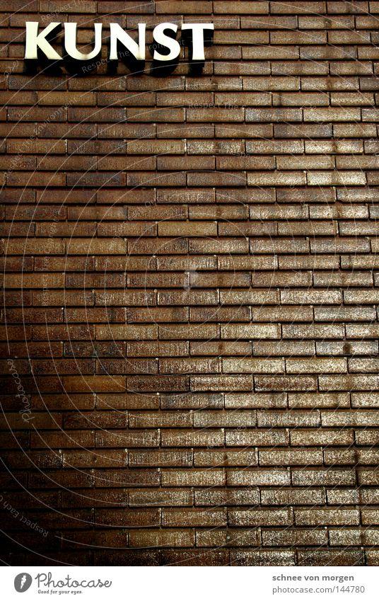 zum an die wand hängen Kunst Kultur Fotograf Wand Stein Architekt Linie gerade horizontal Buchstaben weiß Schriftzeichen Stil Lebewesen musisch geschmackvoll