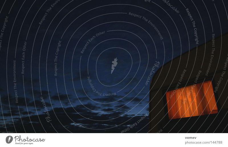 Horizontales Gewerbe Himmel blau Ferien & Urlaub & Reisen dunkel Erholung orange Dienstleistungsgewerbe Camping Vorhang Abenddämmerung