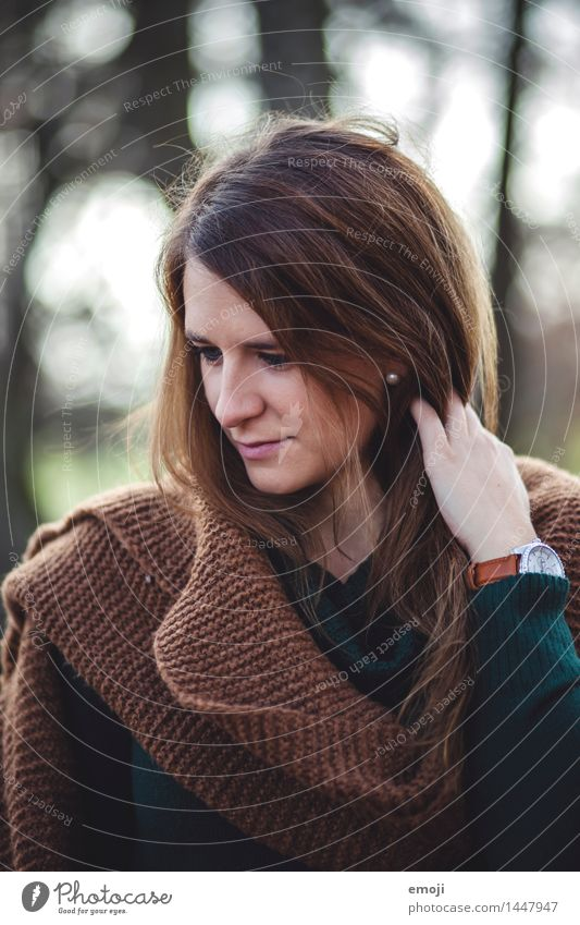 brown feminin Junge Frau Jugendliche Gesicht 1 Mensch 18-30 Jahre Erwachsene brünett langhaarig schön natürlich Farbfoto Außenaufnahme Tag