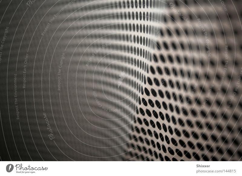 Flugnummer DE2043 Muster Punkt Anzahl & Menge Perspektive Wand Punktmuster Makroaufnahme Nahaufnahme Schwarzweißfoto Mengenangabe Tiefenunschärfe