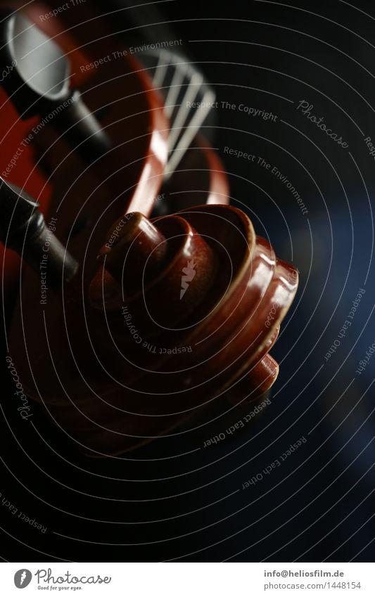 Geigenhals elegant Design Musik Ornament blau braun Stimmung Freude Leidenschaft Traurigkeit Erholung Leistung Reichtum Nostalgie Instrument klassisch Klassik