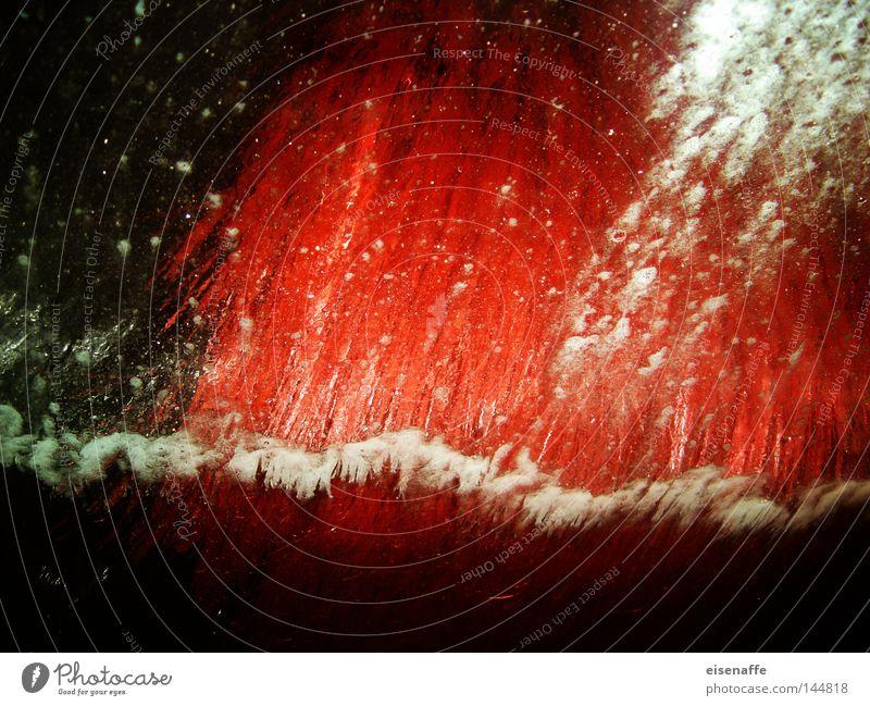 rote Schaummassage Autowaschanlage Autowäsche Wäsche Wasser spritzen Wassertropfen Tropfen Tankstelle KFZ PKW obskur