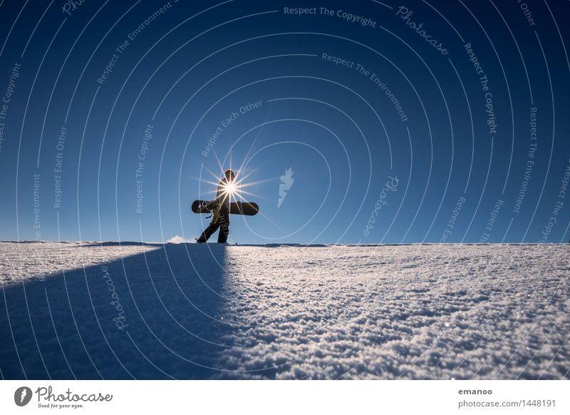 Snowboarder Lifestyle Stil Freude Freizeit & Hobby Ferien & Urlaub & Reisen Tourismus Abenteuer Freiheit Expedition Winter Schnee Winterurlaub Berge u. Gebirge